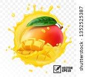 3d realistic transparent...   Shutterstock .eps vector #1352525387