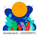 vector cartoon fancy shapes... | Shutterstock .eps vector #1352544971