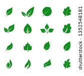 abstract leaf icon set isolated ... | Shutterstock .eps vector #1352548181