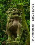traditional japanese stone lion ... | Shutterstock . vector #1352616491