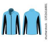 baby blue sport winter zipped... | Shutterstock .eps vector #1352616881