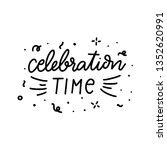 set of hand drawn birthday... | Shutterstock .eps vector #1352620991