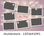 template for photo collage... | Shutterstock .eps vector #1352641091