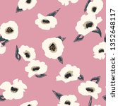 seamless floral pattern with... | Shutterstock .eps vector #1352648117
