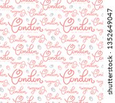 handlettering london pattern.... | Shutterstock .eps vector #1352649047