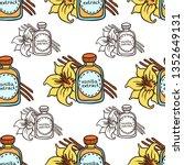 doodle vanilla extract in... | Shutterstock .eps vector #1352649131