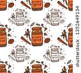 homemade pumpkin spice doodle... | Shutterstock .eps vector #1352649134
