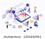 modern isometric concept of... | Shutterstock .eps vector #1352656961