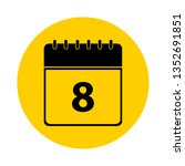 8 calendar yellow vector icon   ... | Shutterstock .eps vector #1352691851