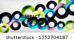 modern geometric circles... | Shutterstock .eps vector #1352704187