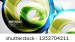 modern geometric circles... | Shutterstock .eps vector #1352704211