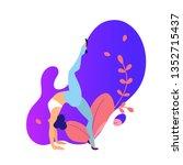 modern sports illustration with ... | Shutterstock .eps vector #1352715437