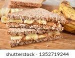 a peanut butter and banana... | Shutterstock . vector #1352719244