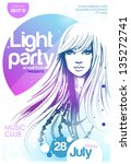 party poster. vector | Shutterstock .eps vector #135272741