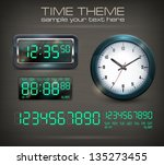 wall clocks and electronic dial ... | Shutterstock .eps vector #135273455
