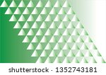 abstract triangle pattern green ... | Shutterstock .eps vector #1352743181