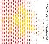light red  yellow vector... | Shutterstock .eps vector #1352776937