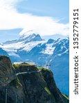 sky cliff walk on first peak of ...   Shutterstock . vector #1352779151