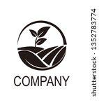 leaf circle logo   Shutterstock .eps vector #1352783774