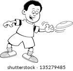 black and white illustration of ... | Shutterstock .eps vector #135279485