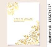 romantic wedding invitation... | Shutterstock .eps vector #1352796737