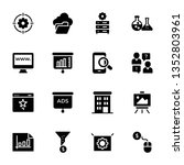 seo and web solid icons pack is ... | Shutterstock .eps vector #1352803961