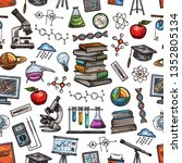 science laboratory and... | Shutterstock .eps vector #1352805134