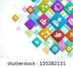 social media icons vector... | Shutterstock .eps vector #135282131