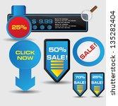 blue banner for text vector | Shutterstock .eps vector #135282404