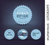 vector badges collection | Shutterstock .eps vector #135282695