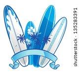 surfboard background | Shutterstock .eps vector #135283391