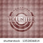 volunteer red seamless emblem... | Shutterstock .eps vector #1352836814