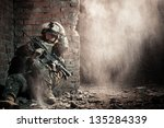 U.s. Marine Hiding From...