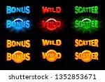 vector slots icon templates.... | Shutterstock .eps vector #1352853671