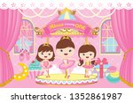 carousel party backdrop with... | Shutterstock .eps vector #1352861987