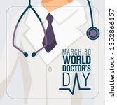 30 mart d nya doktorlar g n .... | Shutterstock .eps vector #1352866157
