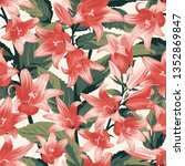 seamless pattern with coral... | Shutterstock .eps vector #1352869847