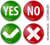 yes or no buttons   Shutterstock .eps vector #135288185