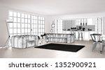 blueprint project draft  sketch ... | Shutterstock . vector #1352900921
