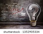 success with lamp of idea | Shutterstock . vector #1352905334