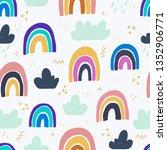 seamless pattern coloured... | Shutterstock .eps vector #1352906771