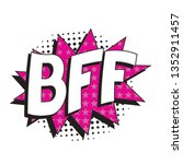 abbreviation bff  best friends... | Shutterstock .eps vector #1352911457
