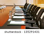 a detail shot of a meeting room ... | Shutterstock . vector #135291431
