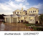 new home house exterior... | Shutterstock . vector #135294077