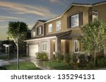 new home house exterior... | Shutterstock . vector #135294131