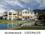 new home house exterior... | Shutterstock . vector #135294155