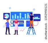 young creative people... | Shutterstock .eps vector #1352950121
