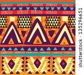 seamless tribal texture | Shutterstock .eps vector #135296651