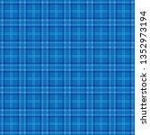 blue argyle plaid background. | Shutterstock .eps vector #1352973194