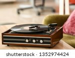 Record Player With Vinyl Disc...